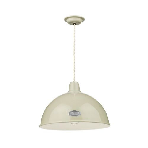 David Hunt Lighting, Groucho 1 Light Pendant French Cream, GRO012 (Hand made, 7-10 day Delivery)